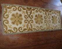 etsy runners long Vintage  vintage velvet table French runner runner brocade handmade table floral