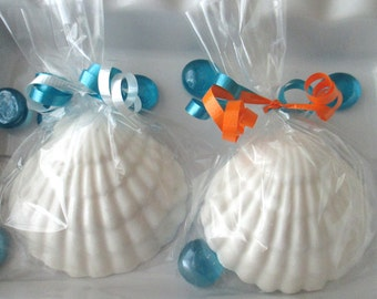 24 Seashell Favors, candy seashells, beach wedding favors, beach theme, party favor, chocolate favors, candy favor, seashell candy, birthday