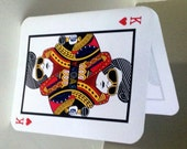 "ELVIS ""The King"" Vegas Poker Thank You Cards - Folded Style"