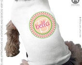 Mod Floral Dog Shirt - Personalized Dog Shirt