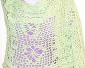 Mint Green Hand Crocheted Wrap & Prayer Shawl