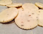 Lavender shortbread cookies with lemon glaze