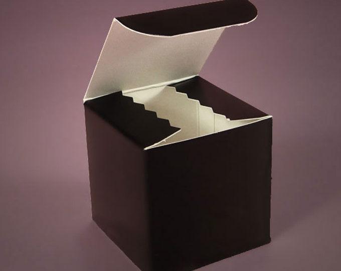 "Hi Gloss Cardboard gift box - 4"" x 4"" x 4"""