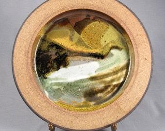 David Shaner, Vintage Studio Pottery Charger, plate, shallow bowl