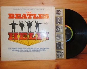 SALE! Rare Mono Mas-2386 The BEATLES Help Rainbow Capitol LP Vintage Original Record Album / Gatefold Cover / Original Inner Sleeve