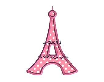 Eiffel Tower Applique Machine Embroidery Design-INSTANT DOWNLOAD