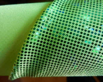 Lime Green Shattered Glass Spandex