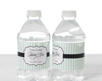 Wedding Water Bottle Labels - Waterproof Self Stick Labels - Custom Wedding Bottle Labels - Bottle Wraps