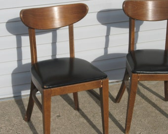 Two Matching Danish 1950's 60's  Modern Wooden Chairs
