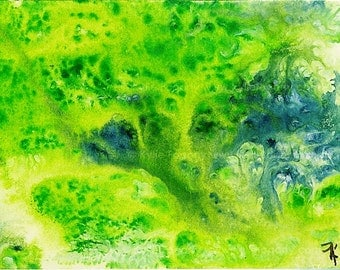 ACEO original Monotype Print by Kylie Fogarty, SFA