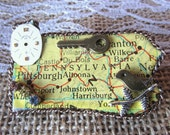 Pretty in Pensylvania Steampunk Brooch