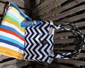 LARGE Tote Bag Weekender Purse Bible Bag Book Bag Carry All Delightful Duck Cloth For Her Gift Idea Teen Tween Choice of Color  Chevron