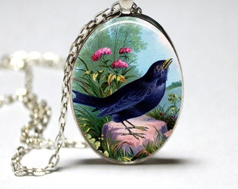 Bird Necklace Wearble Art Pendant Bird Jewelry Bird Nest Necklace