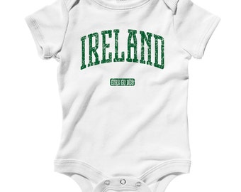 Baby Ireland Romper - Infant One Piece - NB 6m 12m 18m 24m - Ireland Baby - 3 Colors