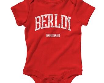 Baby Berlin Germany Romper - Infant One Piece - NB 6m 12m 18m 24m - Berlin Baby - 3 Colors