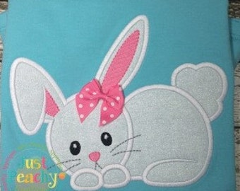 Cute Bunny Rabbit Machine Embroidery Applique Design Buy 2 for 4! Use Coupon Code 50OFF