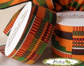 """1-3/8"""" x 20yd. KENTE Ribbon Roll - NON-Wired"""