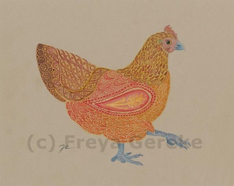 The Red Hen - Giclee