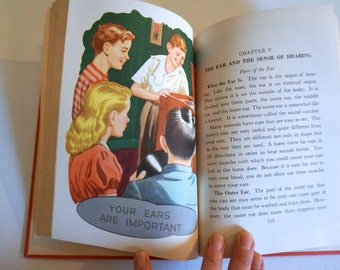 Vintage Health Textbook Hardback Book 1950's Your Health and You The Road To Health - Floyd Jones Vintage