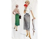 Skirt Pattern, Fifties Pattern, Vintage Pencil Skirt, Pattern McCall's 9482, Waist 26 inches, Skirt with Piocket Detailing