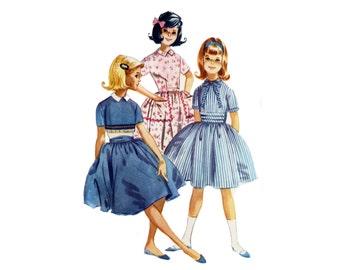 Girl's Dress Pattern, Vintage Dress, McCall's 5644, Sixties Pattern, Girls' Size 12, Uncut Pattern, Retro Girls Pattern, Gathered Skirt