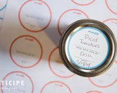 Printable Canning Labels - 2 Inch Lid Labels