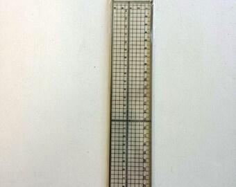 "Clear Plastic Ruler - 30cm 12"" - Metal Cutting Edge - Craft Measure Sewing Tool"
