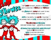 Thing 1 and Thing 2 Baby Shower, Sprinkle Invitation-I Customize, You Print