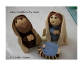 Holy Family 2014 HOLD for S.Essex polymer clay handmade