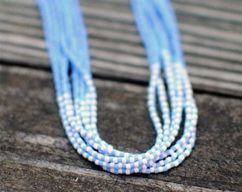 Dotted Periwinkle Necklace