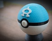 Aquaball 3D Printed Pokemon Fan Art Pokeball Cosplay