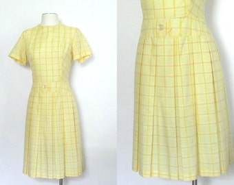 SALE Yellow Lightweight Cotton Dress Handmade