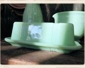 Retro Jadeite Butter Dish