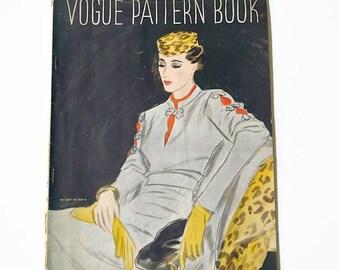 vintage Vogue pattern book. 1930s couturier sewing dressmaking