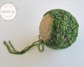 Knitting Pattern - Spring Lattice Bonnet - Newborn Photography Prop
