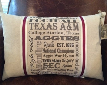 Texas A&M Aggies Pillow