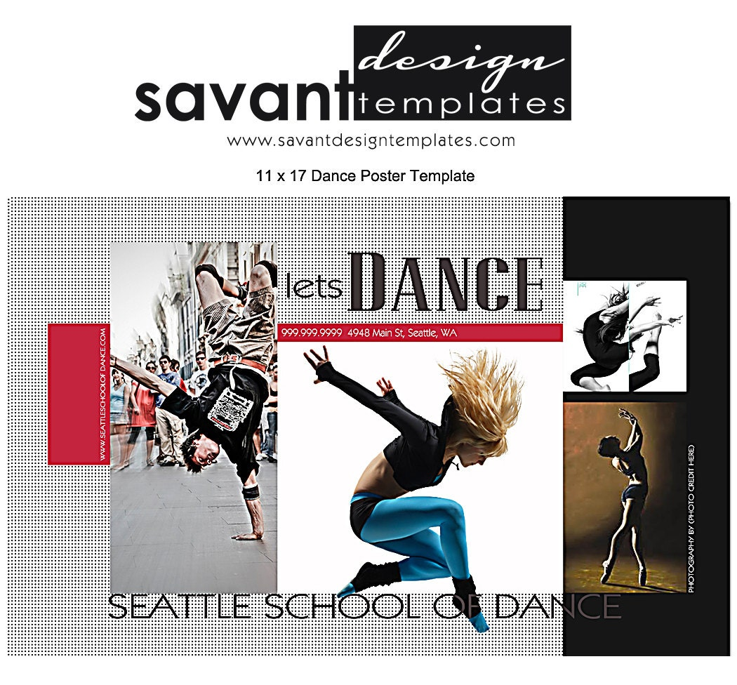 Dance poster template photography lets dance 11x17 by for 11x17 poster template photoshop