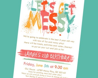 Messy/Art Birthday Invitation