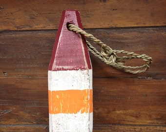 "Beach Decor 11"" Lobster Buoy Orange Red Vintage Style Nautical by SEASTYLE"