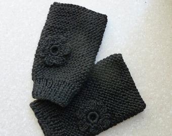100% Spun Silk Fingerless Gloves