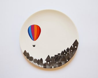 Striped Balloon Plate