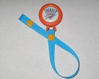 Oklahoma City Thunder Pacifier Clip