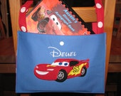 Boys Personalized Stroller spotter / License Plate and Autograph book holder for your Disney Vacation