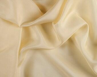 "45"" Wide 100% Silk Habotai Yellow-Wholesale by the Yard"