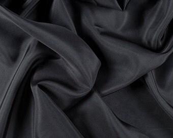 "45"" Wide 100% Silk Habotai Dark Gray-Wholesale by the Yard"