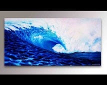 Wave Painting | Hawaii Painting | Signed Print | Hawaiian Decor | Tropical Painting | Surf Decor | Surf Art | Ocean Art