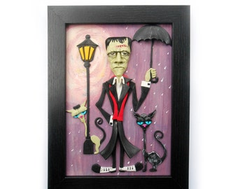 Polymer Clay Art, 3d Painting, Halloween Home Decor - Let's Take a Walk