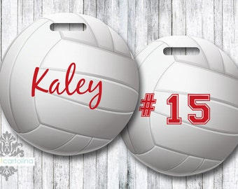 Luggage Tag -  Volleyball Personalized Bag/Luggage Tag