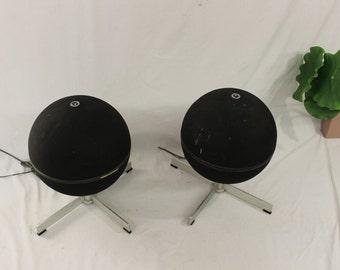 Mid century Modern vintage Vinico round speakers