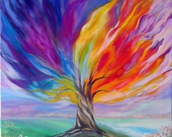 """Tree of Life paintings 20x24"""" on canvas"""